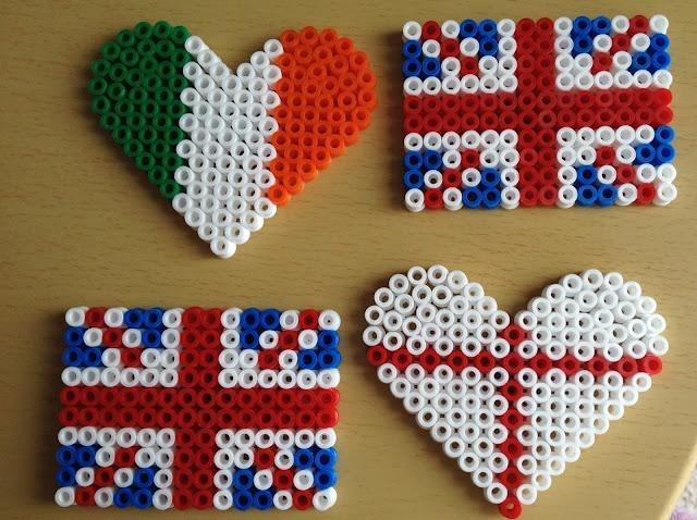 Hama beads fridge magnets