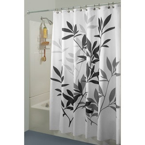 Interdesign Leaves Shower Curtain  Grey21 best shower curtains images on Pinterest   Bathroom ideas  . Grey And Purple Shower Curtain. Home Design Ideas