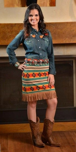 Cowgirl Justice Fall 2014 - Bella Fringed Skirt