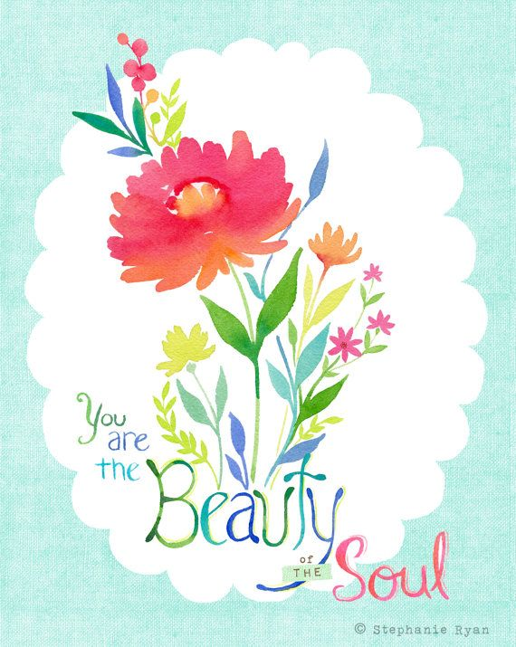 You are the Beauty of the Soul by stephanieryanart on Etsy, $22.00