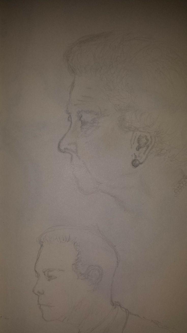 Queen Elizabeth II quick sketch (Pencil).