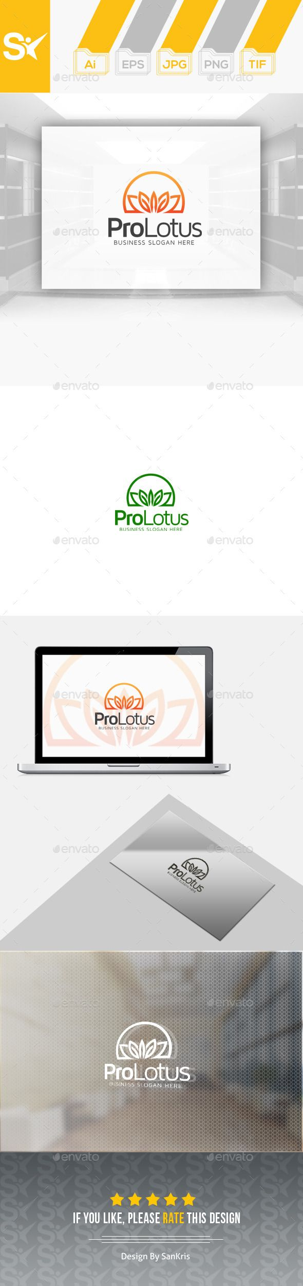 Pro Lotus Logo - Nature Logo Templates