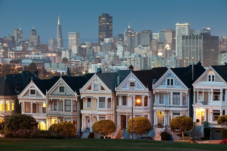 san francisco painted ladies where i have been pinterest. Black Bedroom Furniture Sets. Home Design Ideas