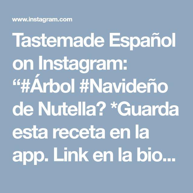 """Tastemade Español on Instagram: """"#Árbol #Navideño de Nutella⠀ *Guarda esta receta en la app. Link en la bio*⠀ INGREDIENTES:⠀ 2 hojas de #hojaldre⠀ 50 gr. de #nutella⠀ 30…"""" • Instagram"""