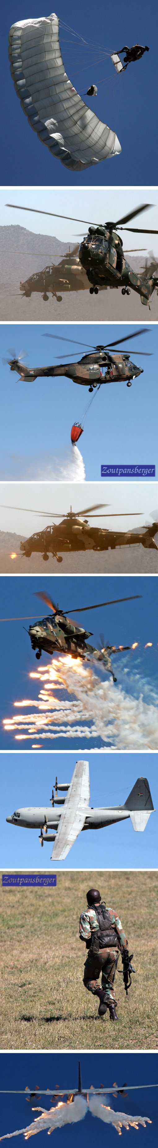 The South African Air Force (SAAF) recently held their first air capability demonstration of the year at the Roodewal bombing range. You can also view video footage of the day.