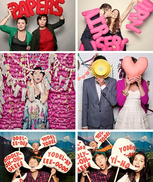 Photobooth. party idea. but with paper, not fabric