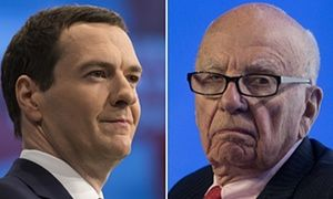 George Osborne is coming under pressure to explain the secrecy surrounding his meetings with top media bosses after it emerged that the details of his talks with Rupert Murdoch and others were kept out of Treasury records.  George Osborne has met Rupert Murdoch three times in the past two years.