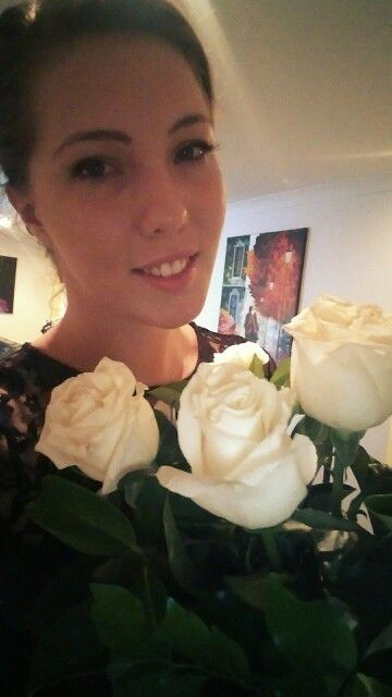 White roses, valentines day
