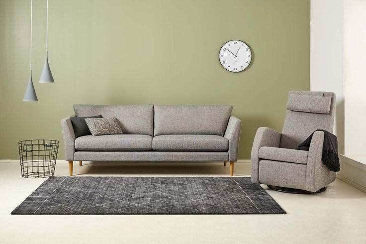 Kaarna 3-ist. sohva ja F10-tuoli. www.finsoffat.fi