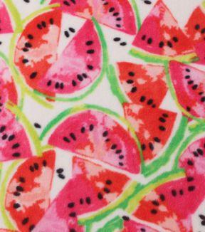 Anti-Pill Fleece Fabric 59''-Watermelons