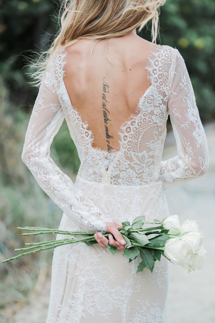 SELENA French Lace Bridal Gown by Goddess By Nature | www.goddessbynature.com #wedding #brides #weddingdresses