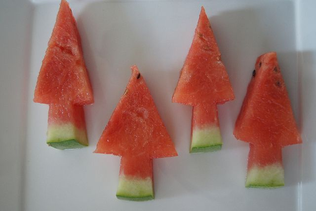 Healthy Christmas Treat - Christmas Tree Watermelon