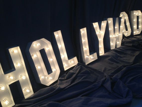 41 best images about old hollywood party on pinterest for Movie marquee letters