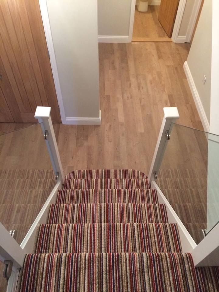 Kaleidoscope by Kingsmead Carpets, fitted on the stairs.