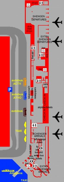 Marco Polo Airport map options for getting to the airport
