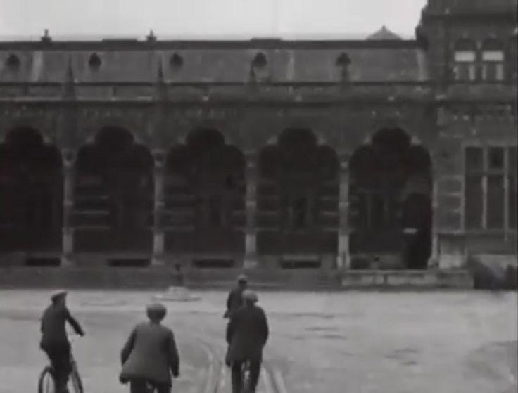 De westvleugel van het hoofdstation Groningen in 1916