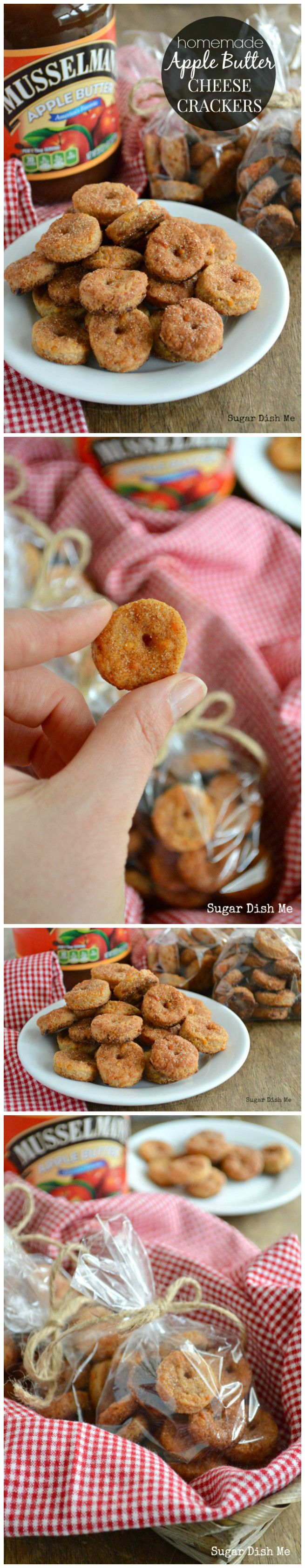 Homemade Apple Butter Cheese Crackers - Sugar Dish Me
