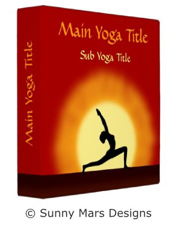 Yoga Pose Sunrise Yoga Teacher Avery 3 Ring Binders by sunnymars of SunnyMarsDesigns in association with Zazzle.  This cool red and yellow custom yoga binder features the silhouette of a woman practicing yoga asana with the sunrise in the background.  Click through to see more yoga binders.