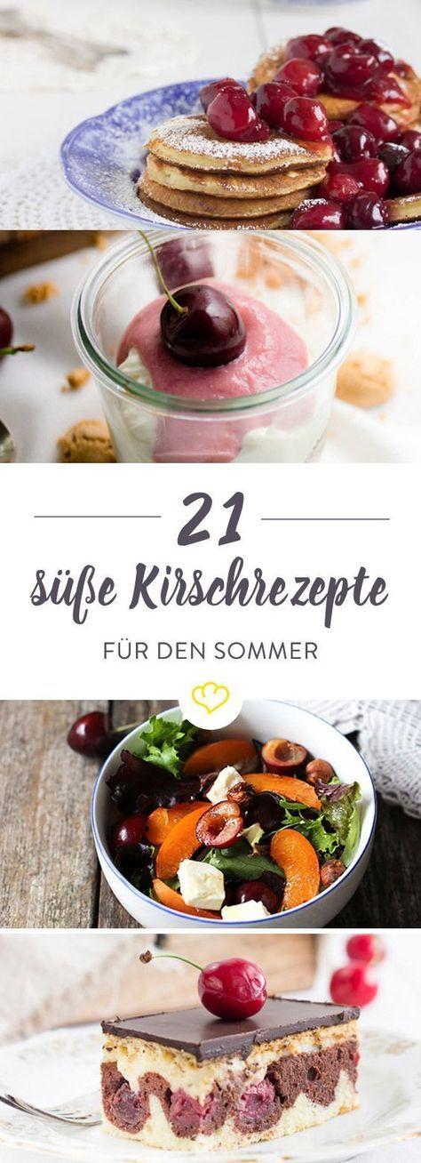 Klein, rund und einfach herrlich lecker. Kirschenzeit ist Naschzeit. Auch mit unseren Lieblings-Foodbloggern ist gut Kirschen essen – hier haben wir ganze 21 sommerliche Rezepte mit dem süßen Früchtchen für dich.