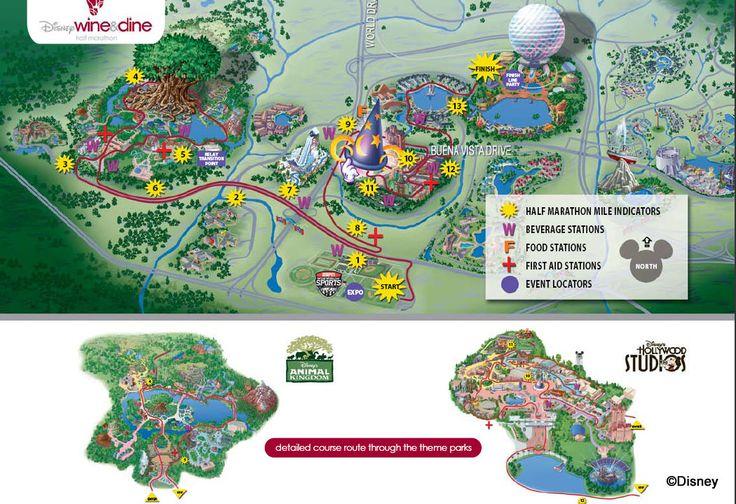 Course Maps for Wine & Dine Half Marathon Weekend | the disney food blog