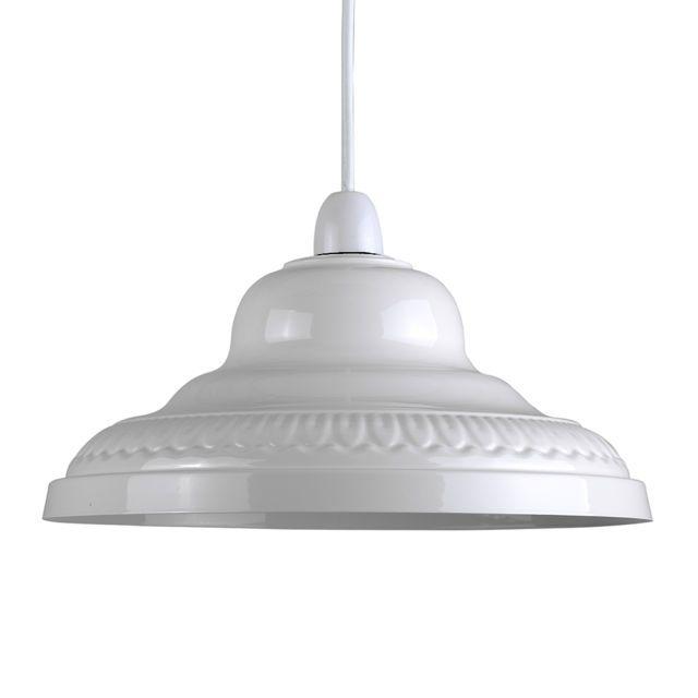 Modern Round Gloss Cream Metal Ceiling Pendant Light Lamp Shade Lampshade Lights Pendant Lamp Shade Metal Ceiling Lighting Pendant Ceiling Lamp