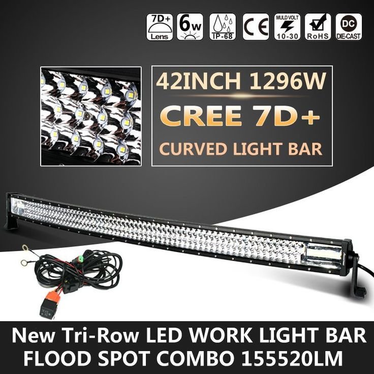 Cree 7d 1296w 155520lm 42inch Curved Led Light Bar Spot