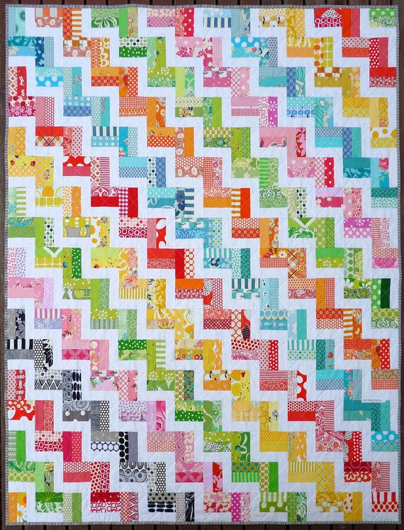 Zig Zag Rail Fence Quilt Pattern PDF by Red by redpepperquilts