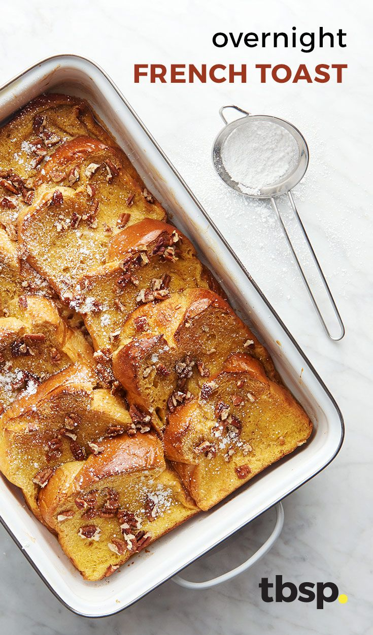 An easy overnight French toast casserole that can be prepared in under ten minutes. Great for serving company!