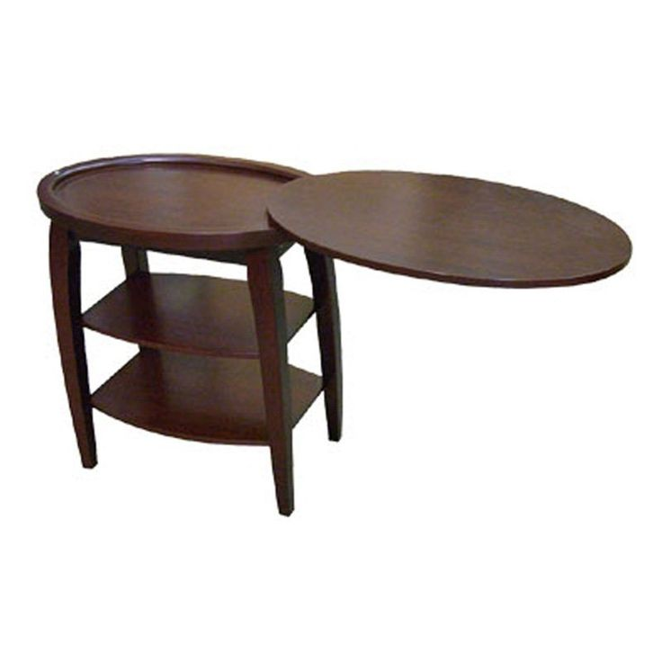 ORE International H 136 Magazine End Table At ATG Stores Top Swivels Open    For