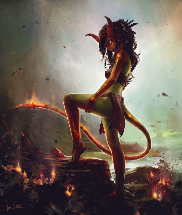 Shika - Queen of the The Marada suka (race that look like demons). Amokinesis