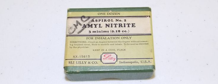 Rare Eli Lilly & Co Amyl Nitrite box Aspirol No. 2 Indianapolis pharmaceutical