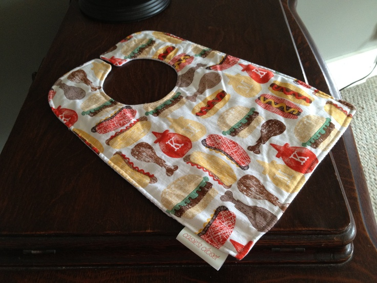Waffle back bib in Ketchup and Mustard by caisiescloset on Etsy, $10.00