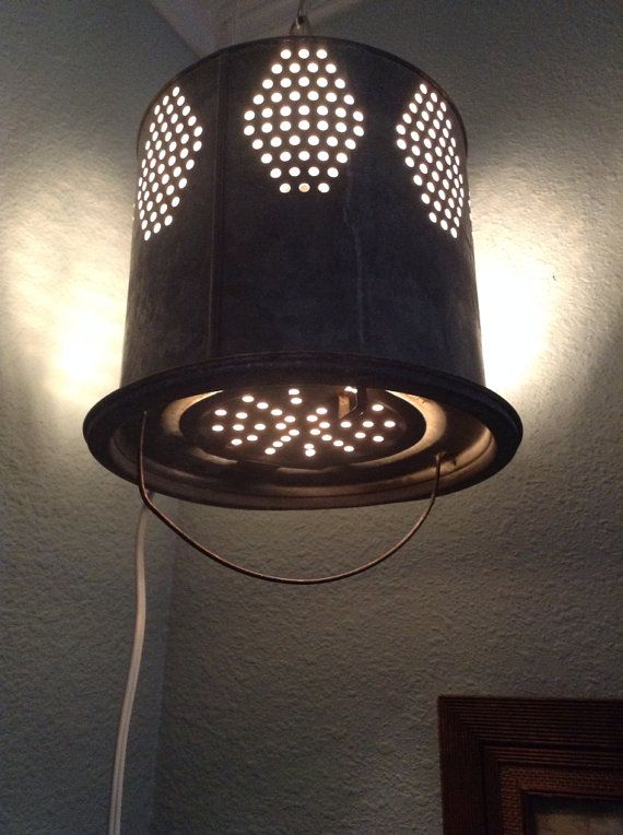Vintage Minnow Bucket Light by LisaraeDesigns on Etsy