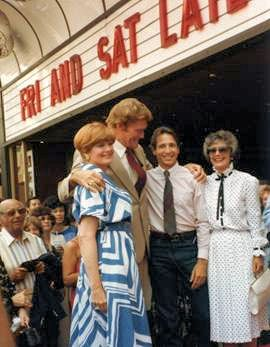 Rifleman Cast 7/18/1984 - Chuck Connors receives star on Hollywood's walk of fame. From left, Patricia Blair, Chuck Connors, Johnny Crawford and Joan Taylor.