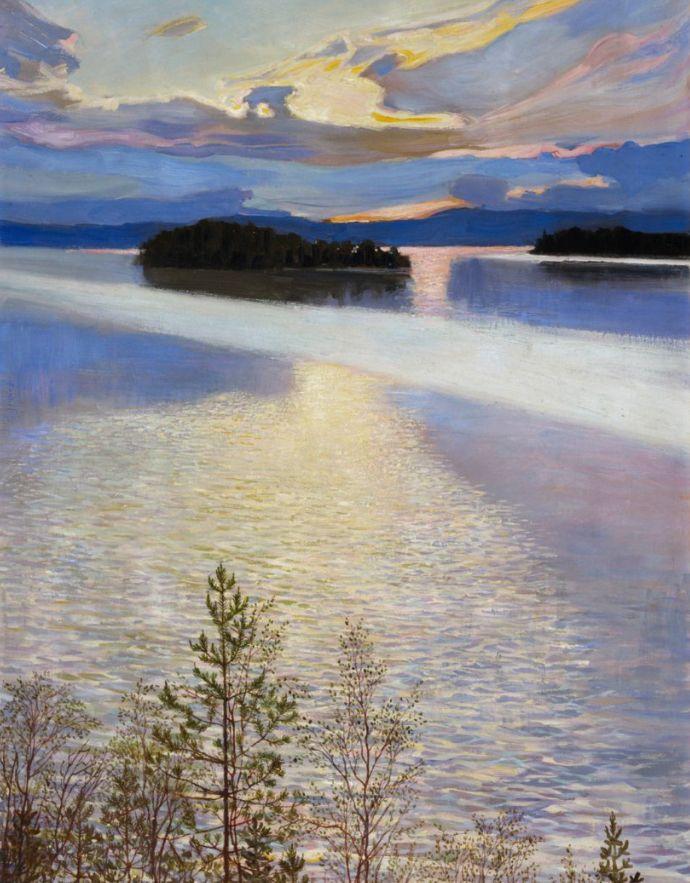 """Gallen-Kallela, Akseli Lake View 1901 """""""