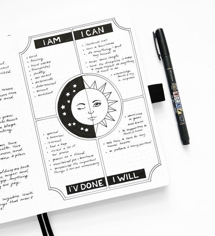 Bullet Journal Layouts für die Vernal Equinox