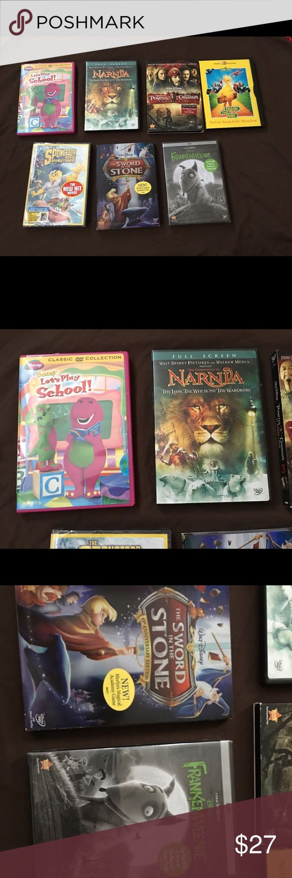 Children Themed Dvd Movies For Sale Is A Set Of 7
