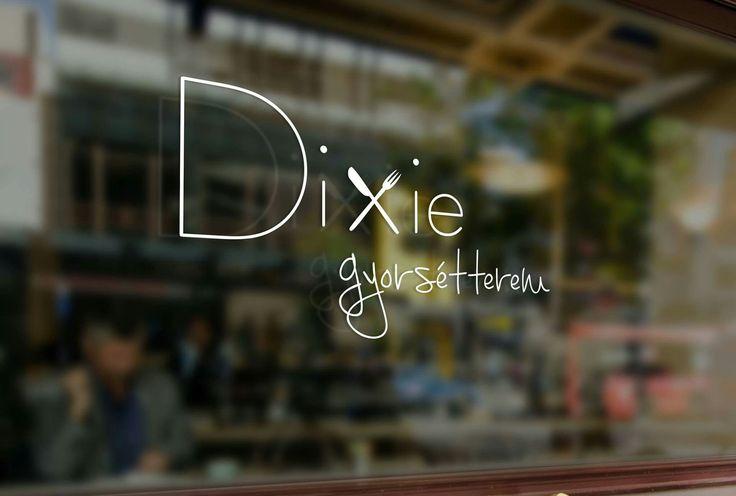 A kecskeméti Dixie gyorséterem logója, 1. verzió