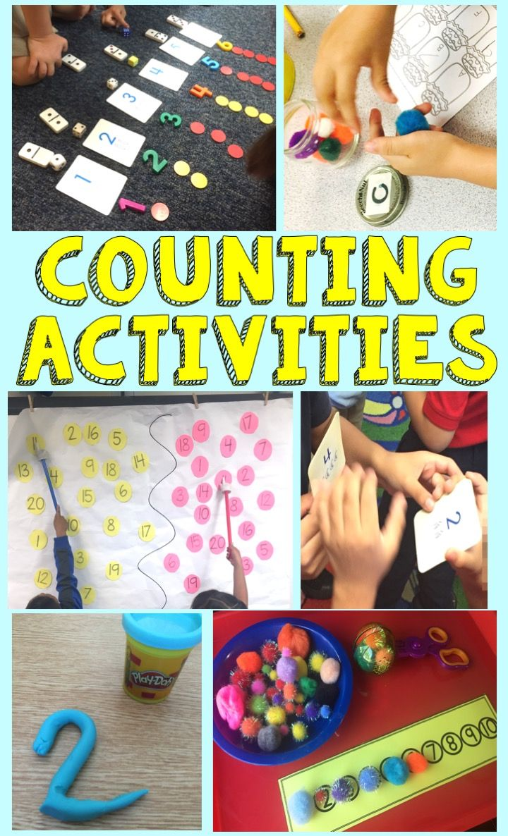 Hands on number sense, number identification and counting activities