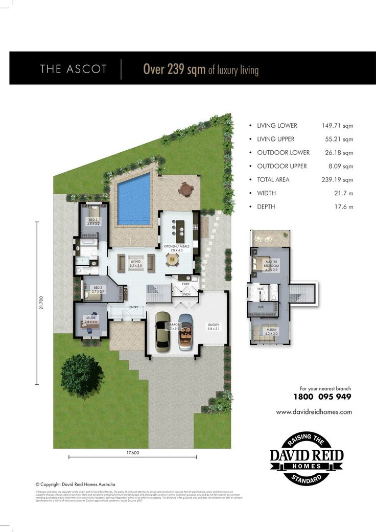 Ascot Floor Plan   Concept Range. David Reid Homes Australia, Luxury Custom Home  Builder