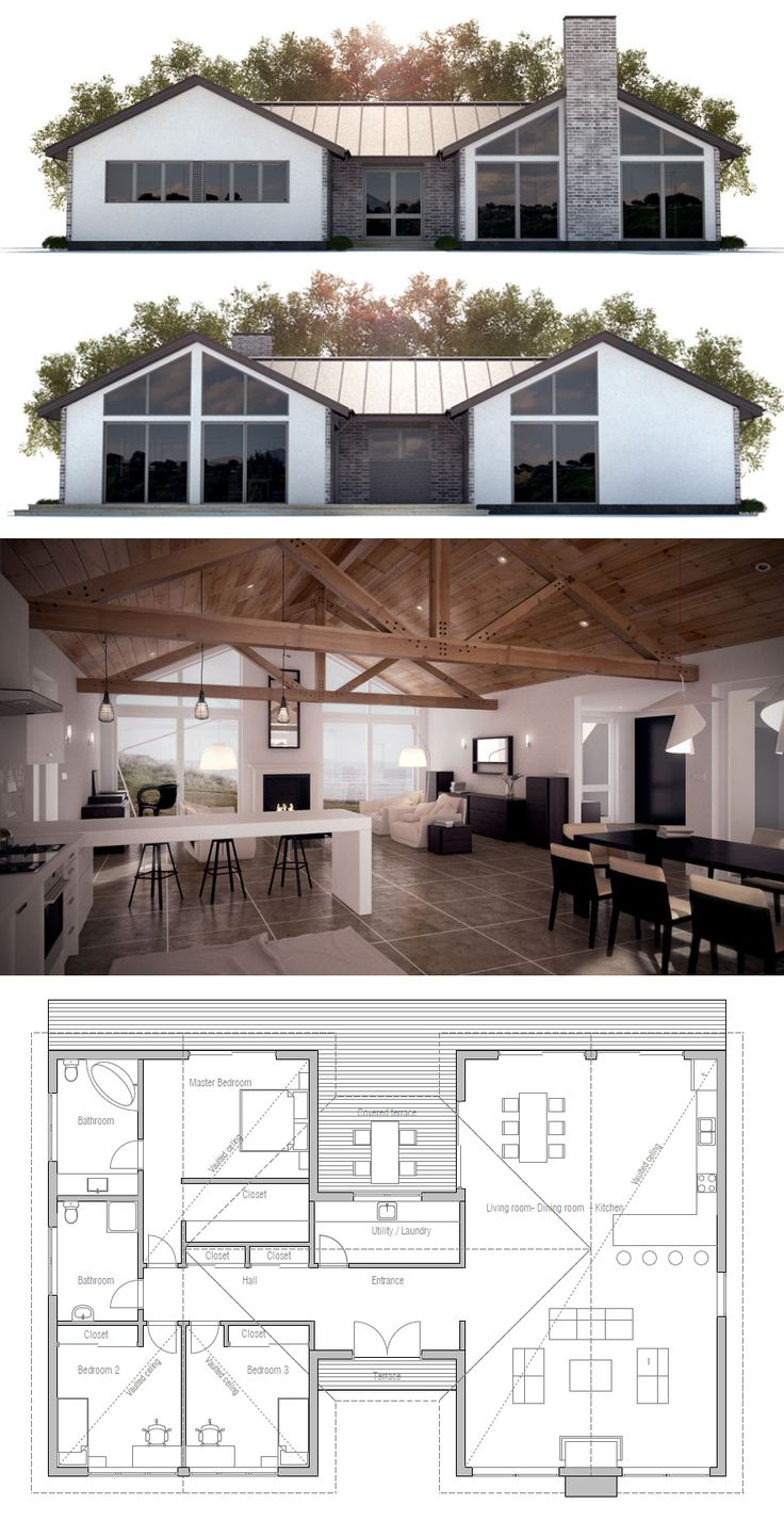 301 best images about house plans on pinterest house for House plans with exposed beams