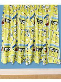 Spongebob Squarepants Framed Curtains 72 Inch Drop