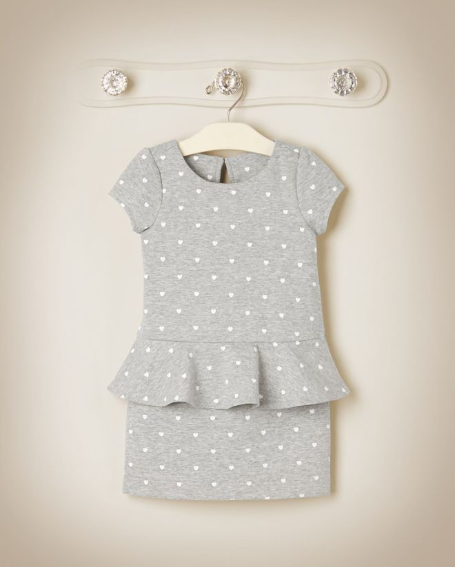 Heart Peplum Dress from Janie and jack, the girls would look super cute in this!