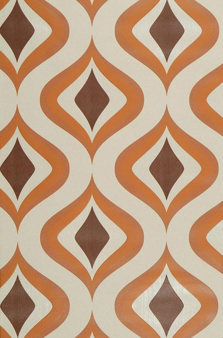 Wallpaper Triton orange   Retro wallpaper, Pattern wallpaper ...