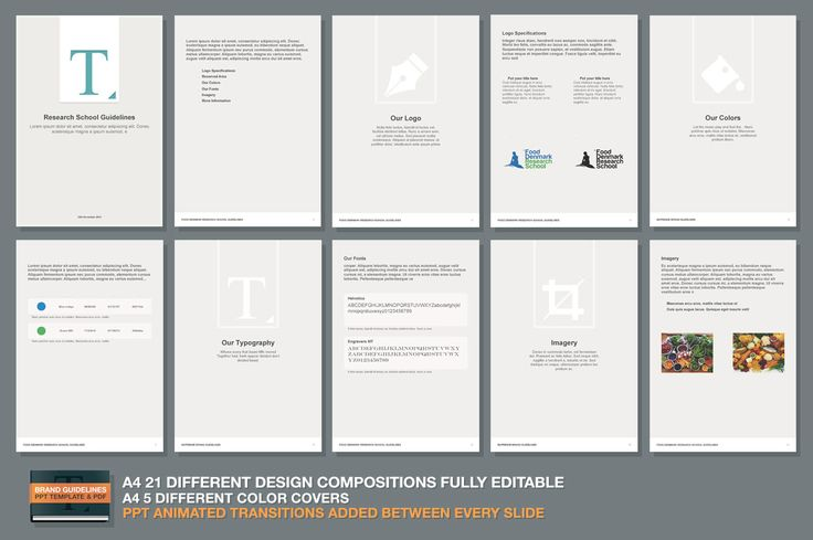 PPT Brand Guidelines Template by Makoto on @creativemarket