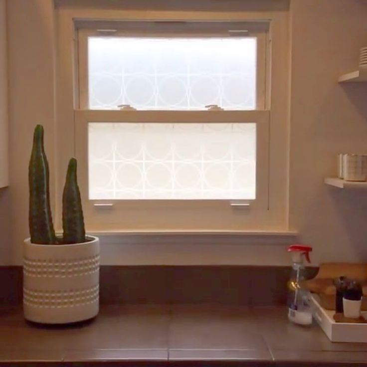 Wow! We love the way @tlee79  window came out using our Midcentury window film! Our film is perfect for small spaces that need a little extra privacy.