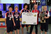 New Trier student and his team win the Gold Medal at the AAU Junior Olympic cup stacking competition!