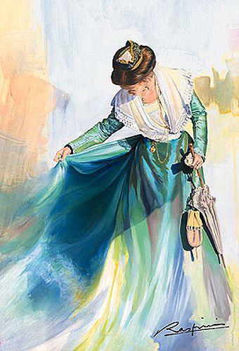 L'arlésienne...d'un geste lent et gracieux,  elle tente de dompter sa jupe que Maître Mistral  éprouve. .....