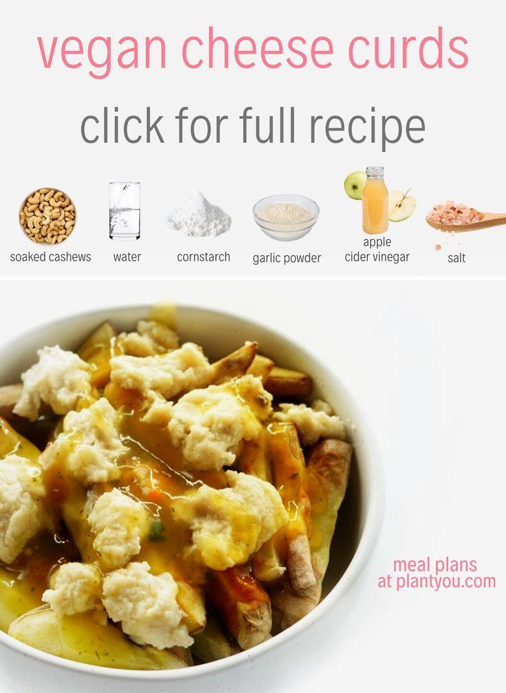 Vegan Cheese Curds Recipes Vegan Cheese Vegan Poutine Vegan Poutine Curds In 2020 Vegan Snack Recipes Vegan Cheese Recipes