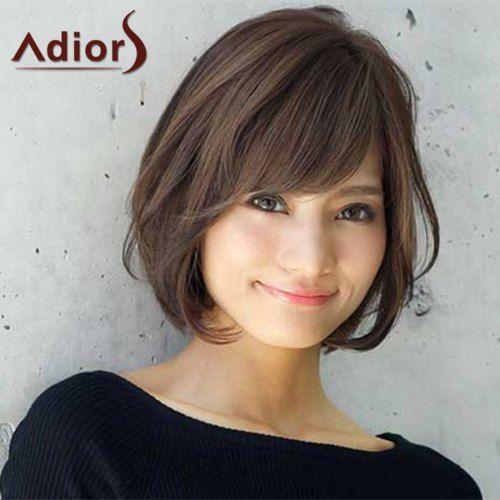 $11.08 Sweet Short Haircut Synthetic Brown Natural Wave Capless Women's Adiors Wig